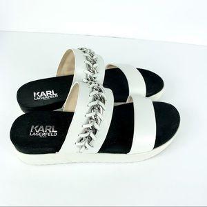 Karl Lagerfeld Meslay Vacchetta Leather Platform
